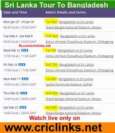 Sri Lanka tour of Bangladesh 2014 Schedule..Watch live only on http://www.criclinks.net/ #cricket