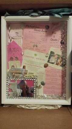 Wedding favor photo memory box