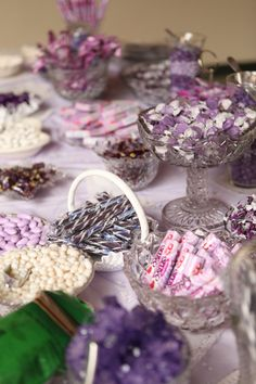 Pretty Purple Candy Buffet Table