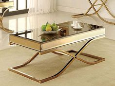 Shop a great selection of Furniture America Dorelle Contemporary Glass Top Coffee Table, Brass. Find new offer and Similar products for Furniture America Dorelle Contemporary Glass Top Coffee Table, Brass. Mirrored Coffee Tables, Brass Coffee Table, Glass Top Coffee Table, Glass Table, Coffee Tables For Sale, Coffee Table Rectangle, New Furniture, Living Room Furniture, Metal Furniture