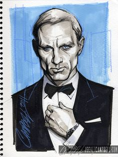 Daniel Craig done by one of my favorite comic book artists, J. scott Campbell