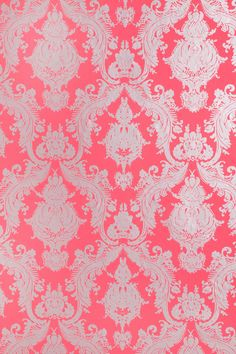 Damsel Removable Wallpaper - Coral I'm seriously considering this for either my bathroom at an accent wall in my living room Coral Wallpaper, Old Wallpaper, Iphone Wallpaper, Hanging Wallpaper, Amazing Wallpaper, Wallpaper Designs, Perfect Wallpaper, Bathroom Wallpaper, Phone Backgrounds