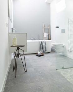 31 Fantastic Tiles Floor Bathroom Fantastic Tiles Floor Bathroom Home Design Grey Bathroom Floor Tiles Together Pleasant Grey # Grey Bathroom Floor, Laundry In Bathroom, Grey Bathrooms, Beautiful Bathrooms, Bathroom Flooring, White Bathroom, Bathroom Interior, Modern Bathroom, Small Bathroom