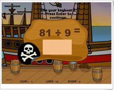 """Pirates II"" (Division Math Game)"