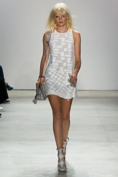 Silva Dress, Mini Lyon Satchel, Ro Heel | Rebecca Minkoff Spring 2016