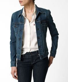 i love denim jackets, they're super comfortable especially the stretchy material