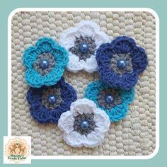 Items similar to Blue Crochet Flowers, Crochet Flower Embellishments, Crochet Flower Appliques, 6 Blue Crochet Flowers on Etsy Prayer Shawl, Mani, Flower Applique, Crochet Flowers, Shawls, Appliques, Color Schemes, Embellishments, Crochet Necklace