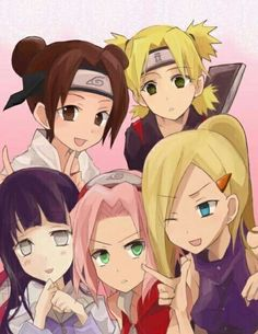 Find images and videos about naruto, sakura and hinata on We Heart It - the app to get lost in what you love. Naruto Kakashi, Naruto Shippuden Sasuke, Anime Naruto, Hinata, Naruto Girls, Naruto Art, Shikamaru, Otaku Anime, Naruhina