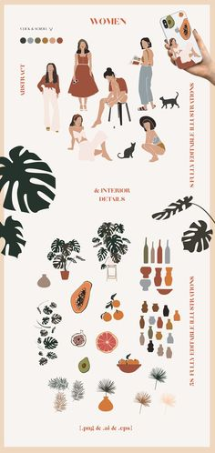 Abstract collection - abstract prints - abstract shapes - Minimal print - Abstract wall art Woman terracota earthy burnt orange clipart PNG in 2019 Art And Illustration, Art Illustrations, Illustration Fashion, Creative Illustration, Portrait Illustration, Fashion Illustrations, Instagram Logo, Instagram Story, Creative Marketing
