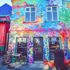 YES! This is BY FAR our favourite building in Reykjavik city! You can stop here for the freshest organic bread. Don't forget to admire this buildings colour though, it's AMAZING!
