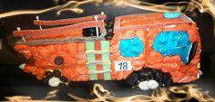 Camion de pompier gâteau de bonbons