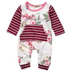 Cheap cotton rompers, Buy Quality one-piece jumpsuit directly from China rompers rompers Suppliers: Cute Newborn Toddler Kids Baby Girl Floral Clothes Long Sleeve Cotton Romper Jumpsuit One-piece Baby Girl Romper, Baby Girl Newborn, My Baby Girl, Baby Girls, Baby Jumper, Toddler Girls, Baby Outfits, Kids Outfits, Baby Dresses
