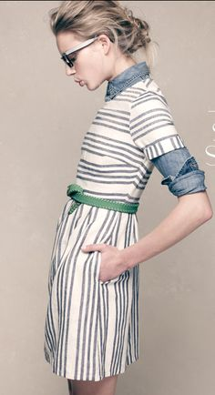 Madewell - Stucco Stripe Songbird Dress