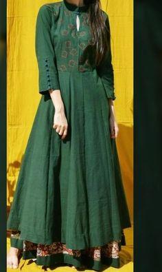 Love this dress - Dresses Salwar Designs, Kurti Neck Designs, Kurta Designs Women, Kurti Designs Party Wear, Blouse Designs, Sleeve Designs, Pakistani Dresses, Indian Dresses, Indian Outfits