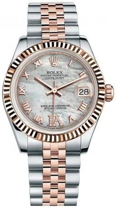 Rolex Datejust Steel and Rose Gold 31mm White Mother of Pearl Diamond VI Dial price, review and buy in UAE, Dubai, Abu Dhabi | Souq.com