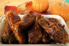 Pumpkin Pie Chicken Wings - Barbequed Chicken