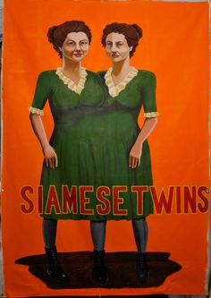 Siamese Twins Sideshow Banner