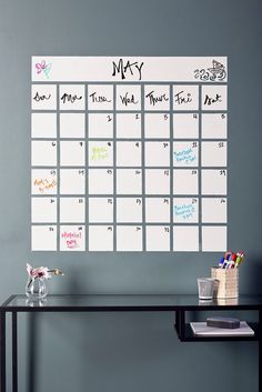 Self Adhesive Whiteboard Wall Sticker Dry Erase Peel Stick Decal for Class J