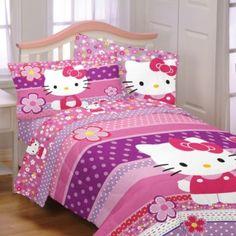 ***Alli's comforter to match Abbi's =) ***  Hello Kitty Twin/Full Comforter - BedBathandBeyond.com