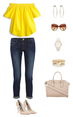 """""""Untitled #1"""" by liz-chirinos-godoy on Polyvore featuring Frame Denim, Givenchy, Sophia Webster, River Island, J.Crew and Bebe"""