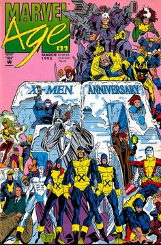 Marvel Age X-Men Anniversary Cover Artists: Joe Quesada & P. Craig Russell Quite a few members of Peter David's second X-Factor run on this cover. Marvel Comics Superheroes, Marvel Girls, Marvel Comic Books, Marvel X, Marvel Heroes, Marvel Characters, Comic Books Art, Comic Art, Book Art
