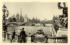 The Rue des Nations seen from the Pont Alexandre III at the Exposition Universelle in Paris Pont Alexandre Iii, Architecture Mapping, Mystery Novels, World's Fair, Tour Eiffel, Summer 2016, Old World, New Books, France
