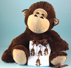 """Five Little Monkeys"" Gift Set for Baby boy or girl by Baby Gifts-N-Treasures #Monkey #StuffedPlushMonkey #NewbornBabyGifts #SoftPlushMonkey"