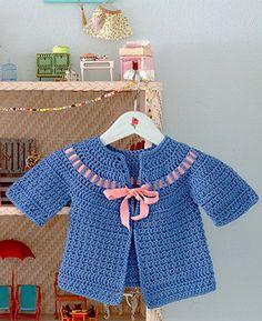 Cecily Baby Sweater Crochet Pattern by Posie – Rosy Little Things #Crochet