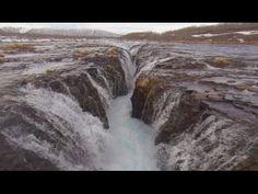 Aerial Iceland - The Brúarfoss Waterfall (DJI Phantom 2, Fatshark FPV) - YouTube