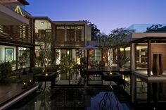 The Courtyard House | Home's with inner courtyards are AMAZING.  I attended a soiree at one similar in Los Angeles years ago and never wanted to leave!