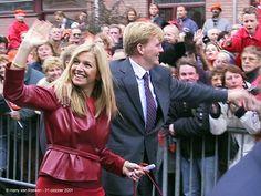 October 31, 2001, Willem-Alexander and Maxima.   theroyalforums.com