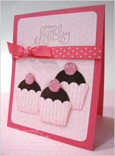 cute cupcake card using crystal effects