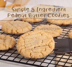 3 ingredient PB Cookies