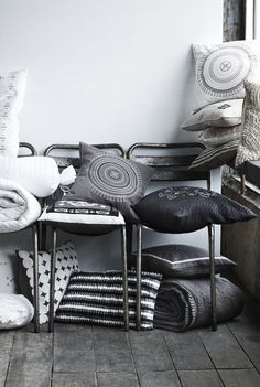 """textile collection for the home by """"nü by staff woman""""."""