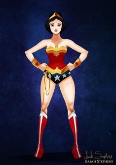 Snow White as Wonder Woman | 11 Disney Princesses Re-Imagined As Pop Culture Heroines