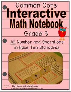 Literacy & Math Ideas: Grade 3 Interactive Math Notebook Number and Opera...