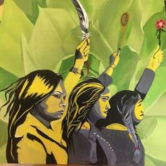 @AmericanIndian8  Oct 30 Dedicated to the missing/murdered native women You are not forgotten Painting by @AngelaSterritt #MMIW #MMIWG