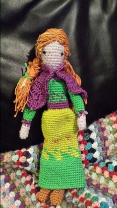 Do you want to build a snowman?  My version of #Anna #frozen #nobrand #madebyme #crotchet