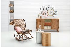 Rattan, Magazine Rack, Cabinet, Storage, Vintage, Furniture, Home Decor, Handmade