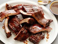 Alton Brown Backyard BBQ Ribs! Not a difficult recipe but takes time, so make sure you leave yourself enough prep time- delicious!!!