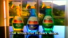 1989 - Commercial - Windex Glass Cleaner w/Ammonia D - That streak-free ...