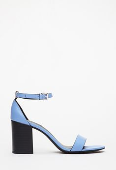 Periwinkle Ankle Strap Faux Leather Sandals | FOREVER21 - $24.90