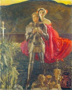 'The Legend of Sir Perceval' painted 1952-1953 by F. Cadogan Cowper RA.