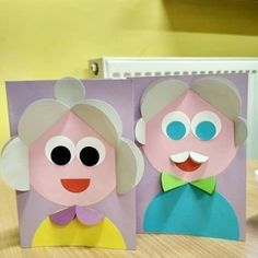 Crafts and games for children - Cute Kids Crafts, Paper Crafts For Kids, Projects For Kids, Diy And Crafts, Arts And Crafts, Grandparents Day Crafts, Mothers Day Crafts For Kids, Diy For Kids, Children Crafts