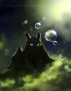 Cute Drawing of toothless