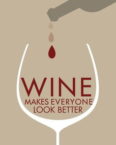 Wine art poster-humorous print via Etsy.
