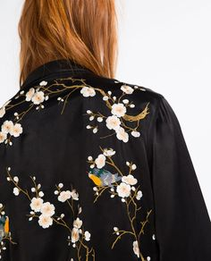 Then pick up this floral embroidered bomber jacket. The luxe satin finish-look adds to the elegance of the design. New Fashion, Fashion Outfits, Womens Fashion, Skirt Fashion, Mode Style, Style Me, Gypsy Style, Embroidered Bomber Jacket, Look Boho