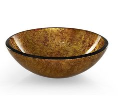 "RVE165MGD: Reflex Metallic 16.5"" glass vessel in Metallic Gold. From Ryvyr's glass vessel collection."