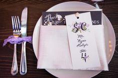 Romantic & Eclectic Purple & Green Wedding via TheELD.com