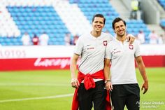 Grzegorz Krychowiak and Wojciech Szczęsny before the match against Chile National Football Teams, World Cup 2018, Chile, Polish, Sports, Tops, Hs Sports, Vitreous Enamel, Sport